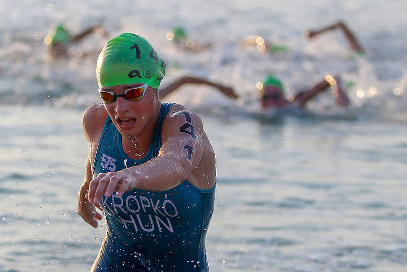 Doha, Qatar - October 15, 2019: Aquathlon Mixed Team Relay - Final at Katara Beach during day five of the 1st ANOC World Beach Games Qatar 2019  (photos Angelos Zymaras - Laurel Photo Services)