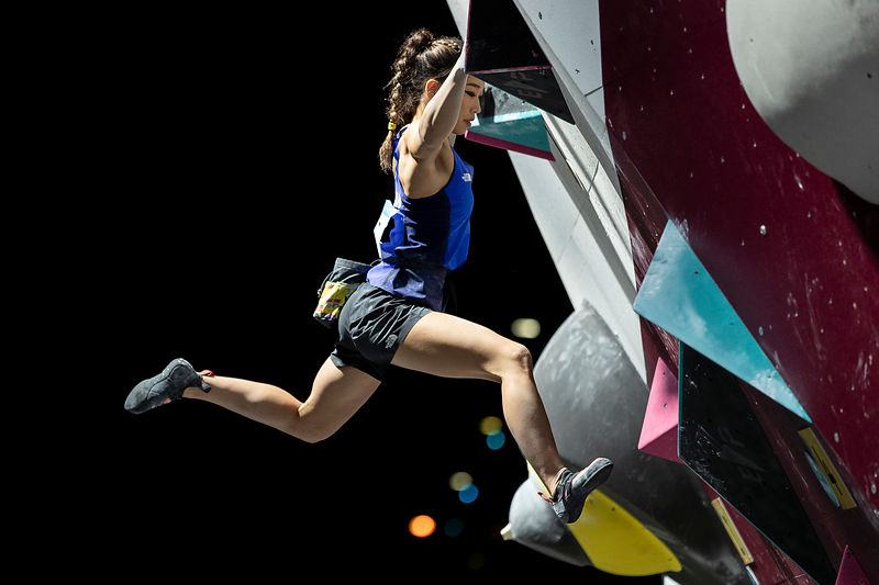 DOHA, QATAR Ð OCTOBER 14, 2019: Women's bouldering final during day four of the 1st ANOC World Beach Games (Photo Dimitris Tosidis / Laurel Photo Service